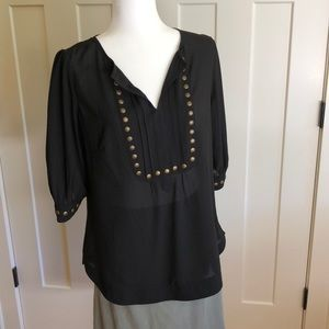 41 Hawthorn black top with copper studding detail